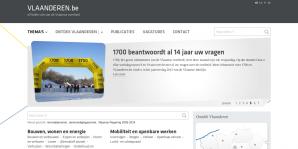 Vlaanderen website screenshot